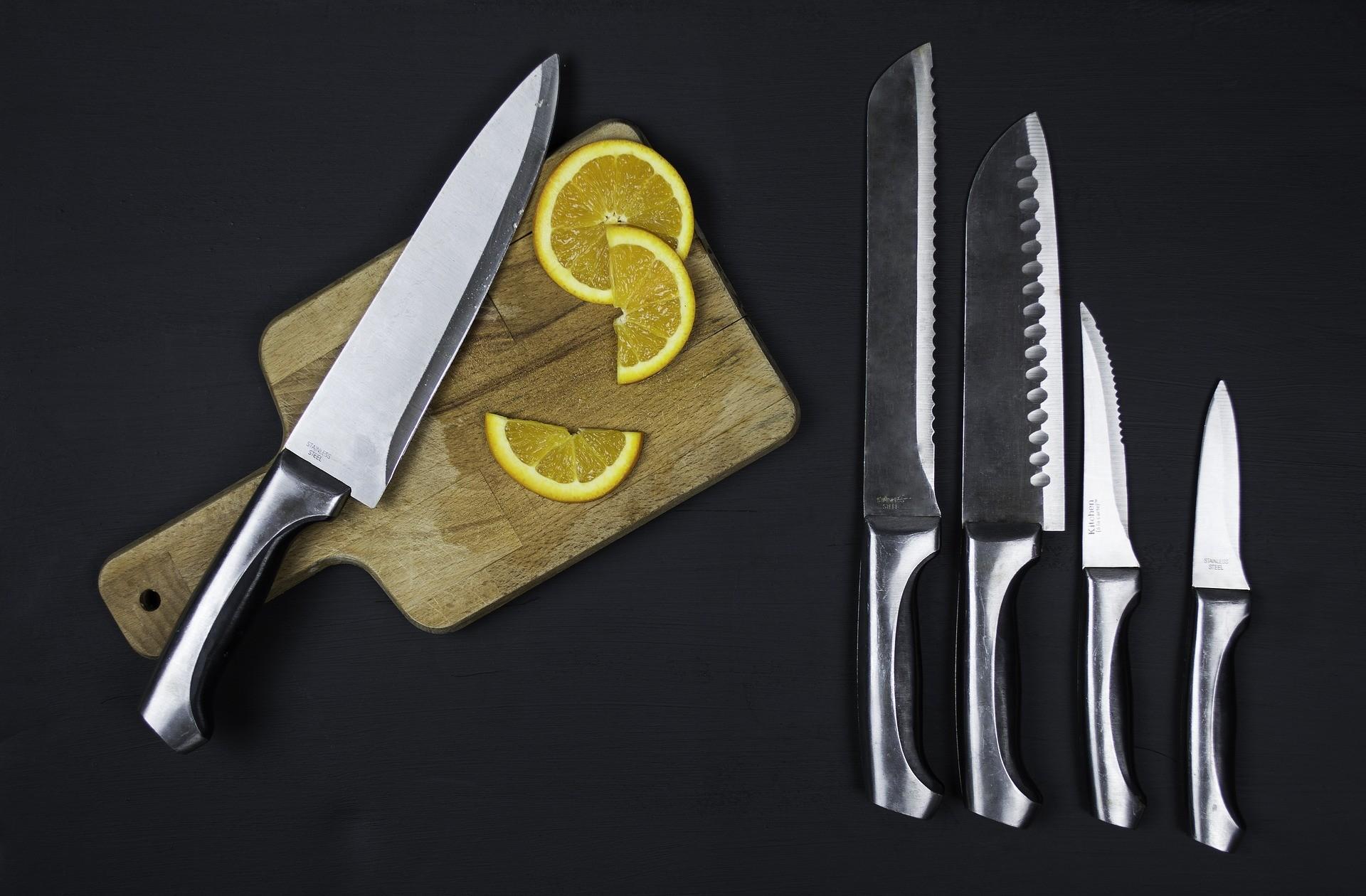 Keukenmes met logo
