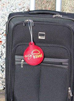 Kofferlabel met logo bedrukken
