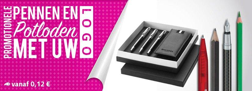 bedrukte pennen en potloden van Promostore