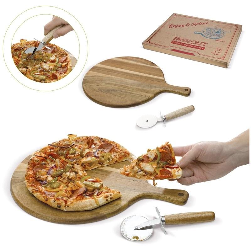 Pizza snijplank met cutter
