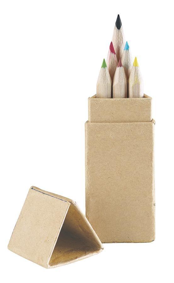 """Pencilbox """"Natural Colour"""", 6pcs."""