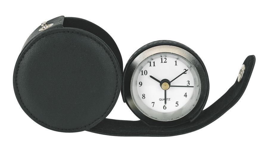 "Metal alarm clock,""Carpe Diem"", black"