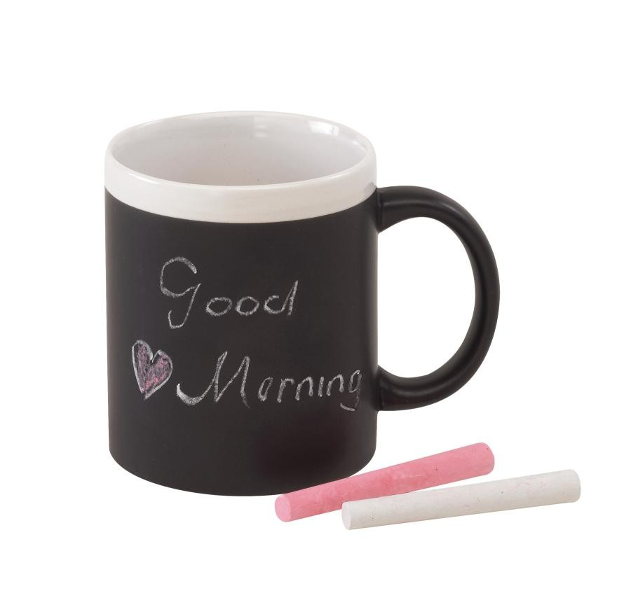 "mug with chalk ""Hot message"""