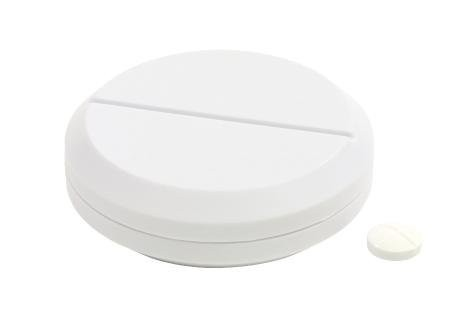 "Pillbox with cutter ""Easy Cut"" ,white"