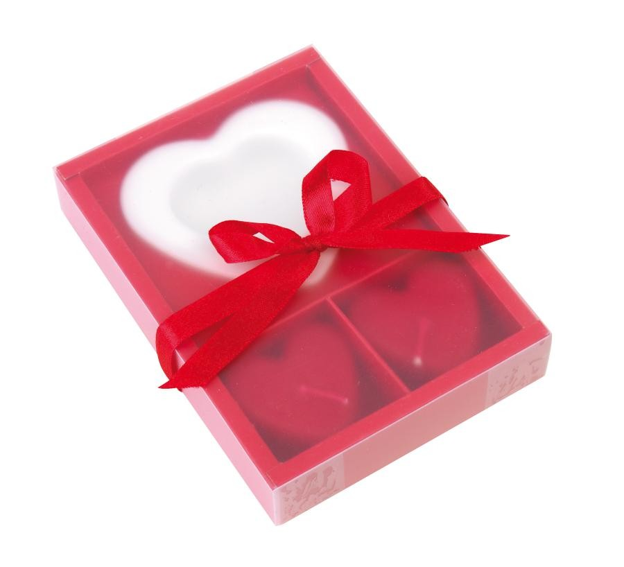"Candle set ""2 Hearts"""
