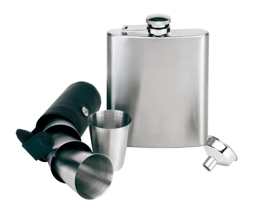 "Hip flask set, 7 pcs. ""Gentleman"""