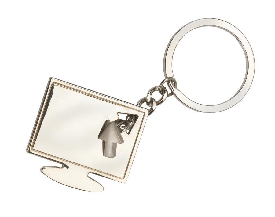 "Metal keyholder ""Screen"", silver"