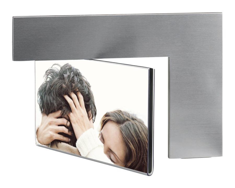 "Alum. photo frame""Arc"", 2 photos, silver"
