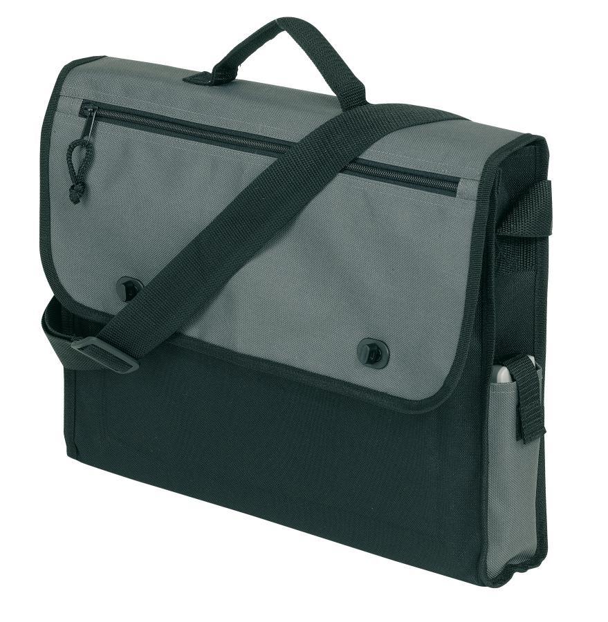 "Document bag ""Relax"",600D, black/grey"