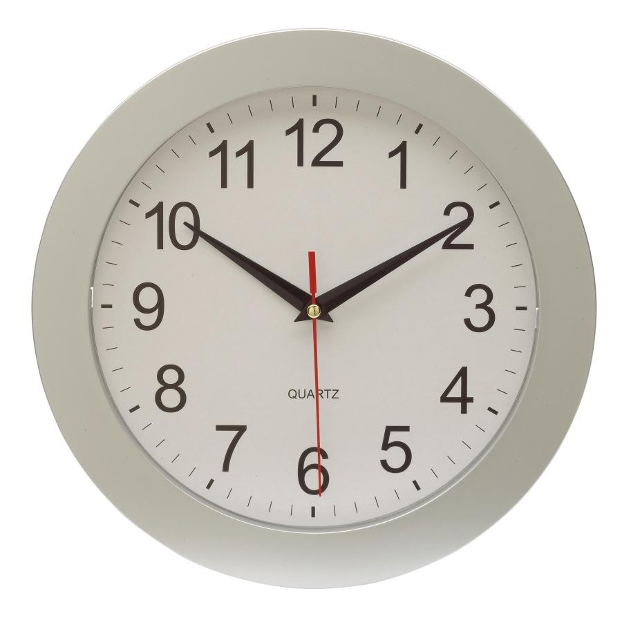 """wall clock """"Easy Time"""" , silver"""