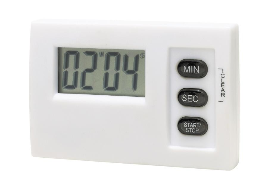 """LCD timer w/ magnet, """"Magnetic"""" white"""