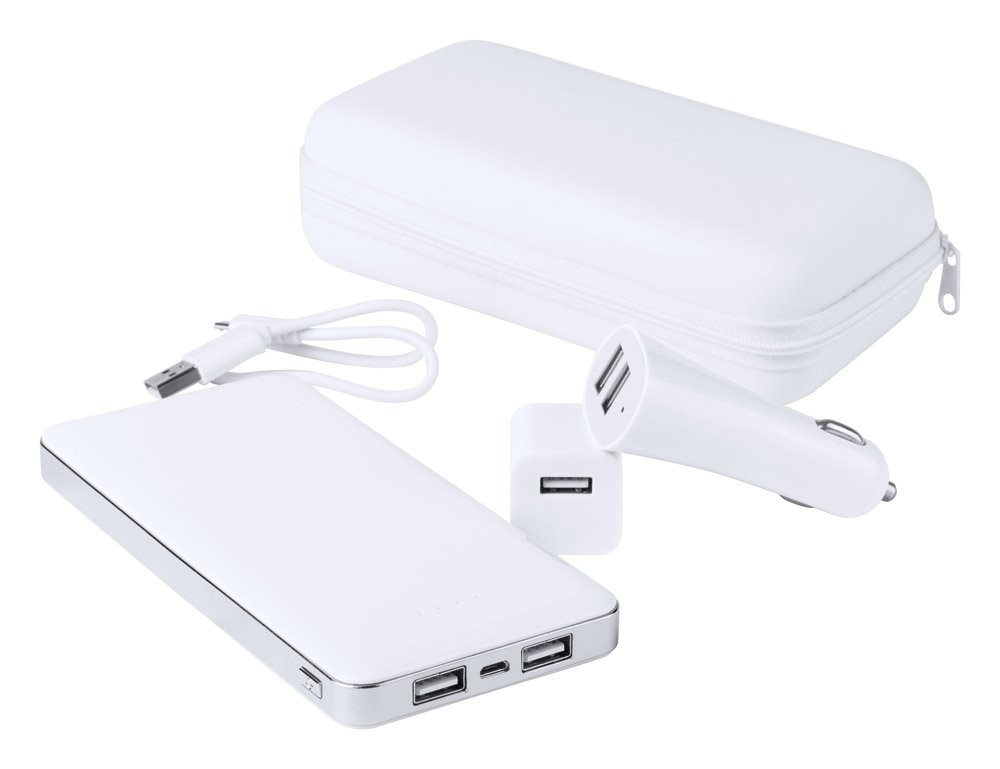 Usb Power Bank En Lader Set ''Atazzi''