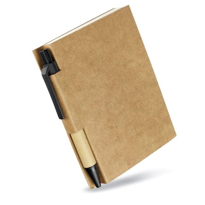 Notitieblok en gerecyclede pen CARTOPAD, View 3