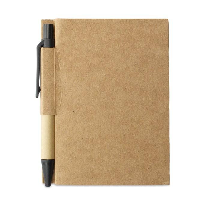 Notitieblok en gerecyclede pen CARTOPAD