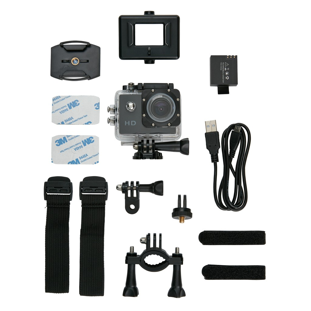 Action camera inclusief 11 accessoires, View 2