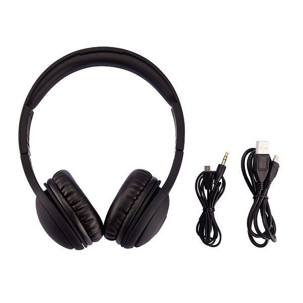 Opvouwbare bluetooth hoofdtelefoon, zwart, View 3