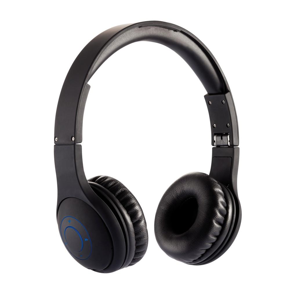 Opvouwbare bluetooth hoofdtelefoon, zwart