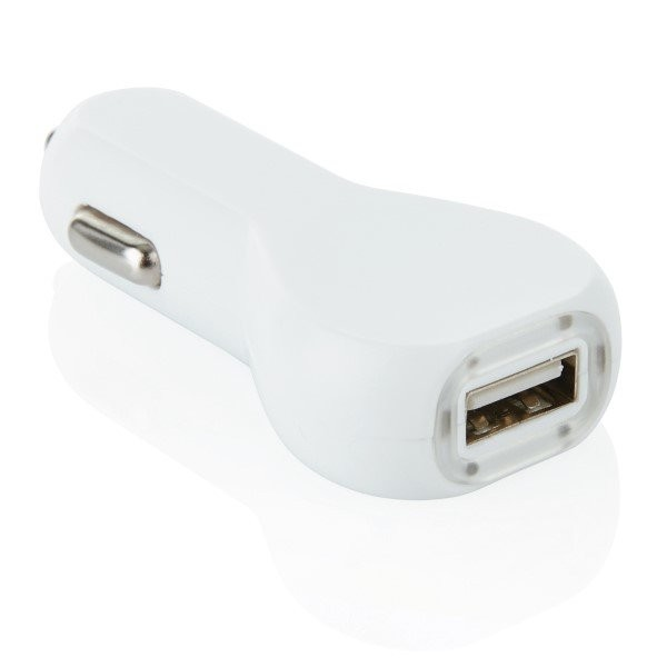 USB auto oplader, wit