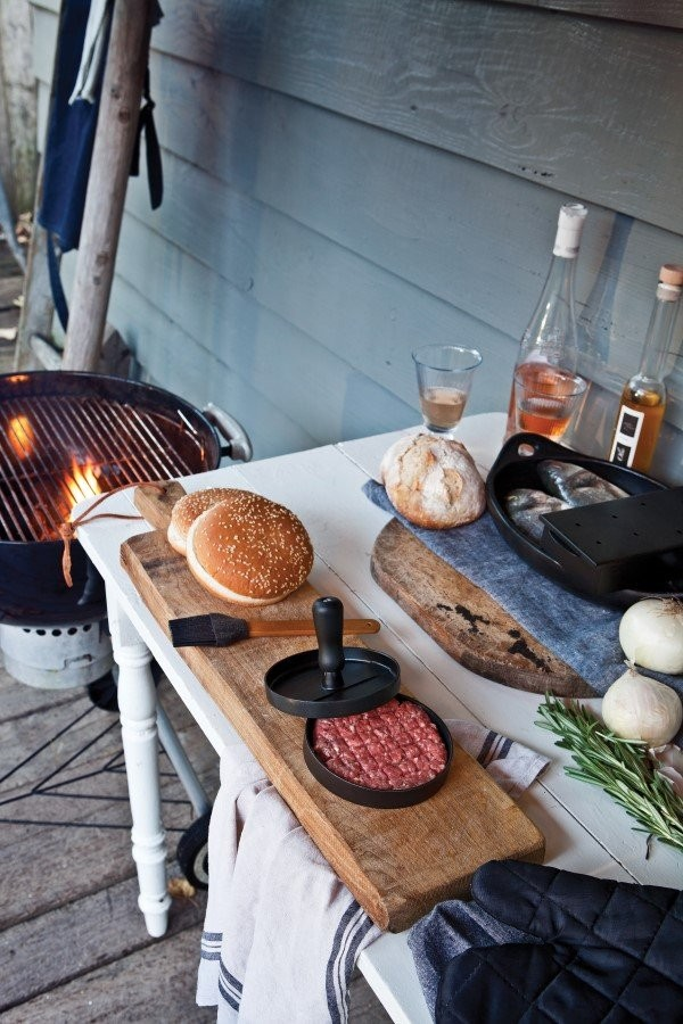 Barbecue set inclusief hamburgerpers, grijs, View 11