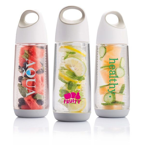 Bopp waterfles met infuser, wit/grijs, View 3