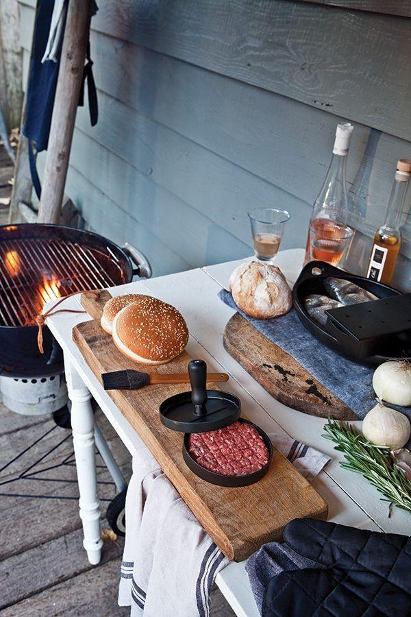 Barbecue set inclusief hamburgerpers, grijs, View 5