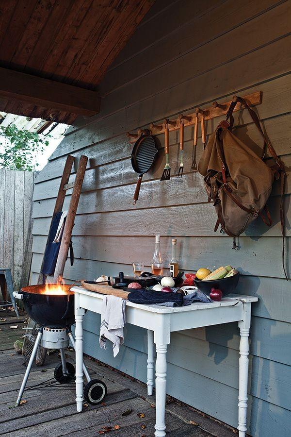 Barbecue set inclusief hamburgerpers, grijs, View 6