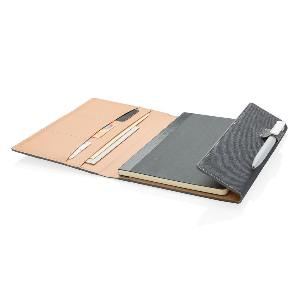 A5 Deluxe design notitieboek omslag, grijs, View 3