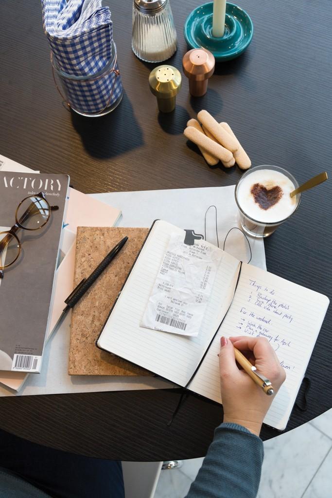 A5 kurken notitieboek incl. touchscreen pen, bruin, View 18