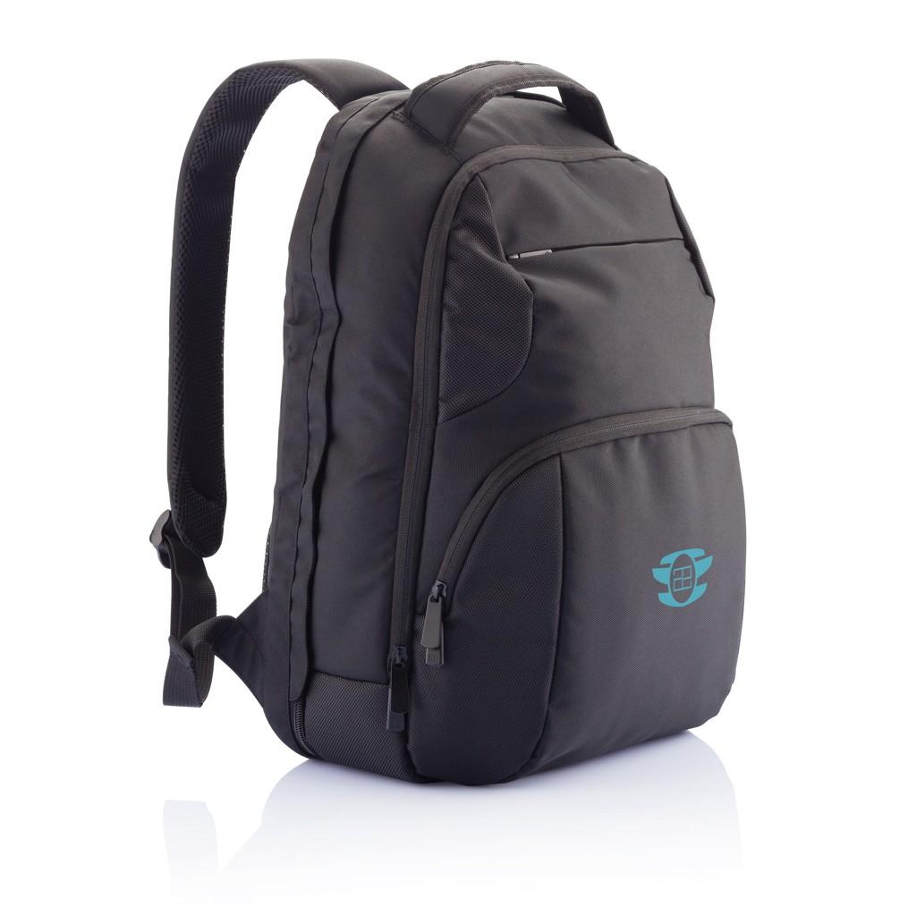 PVC vrije universele laptop rugtas, zwart, View 20