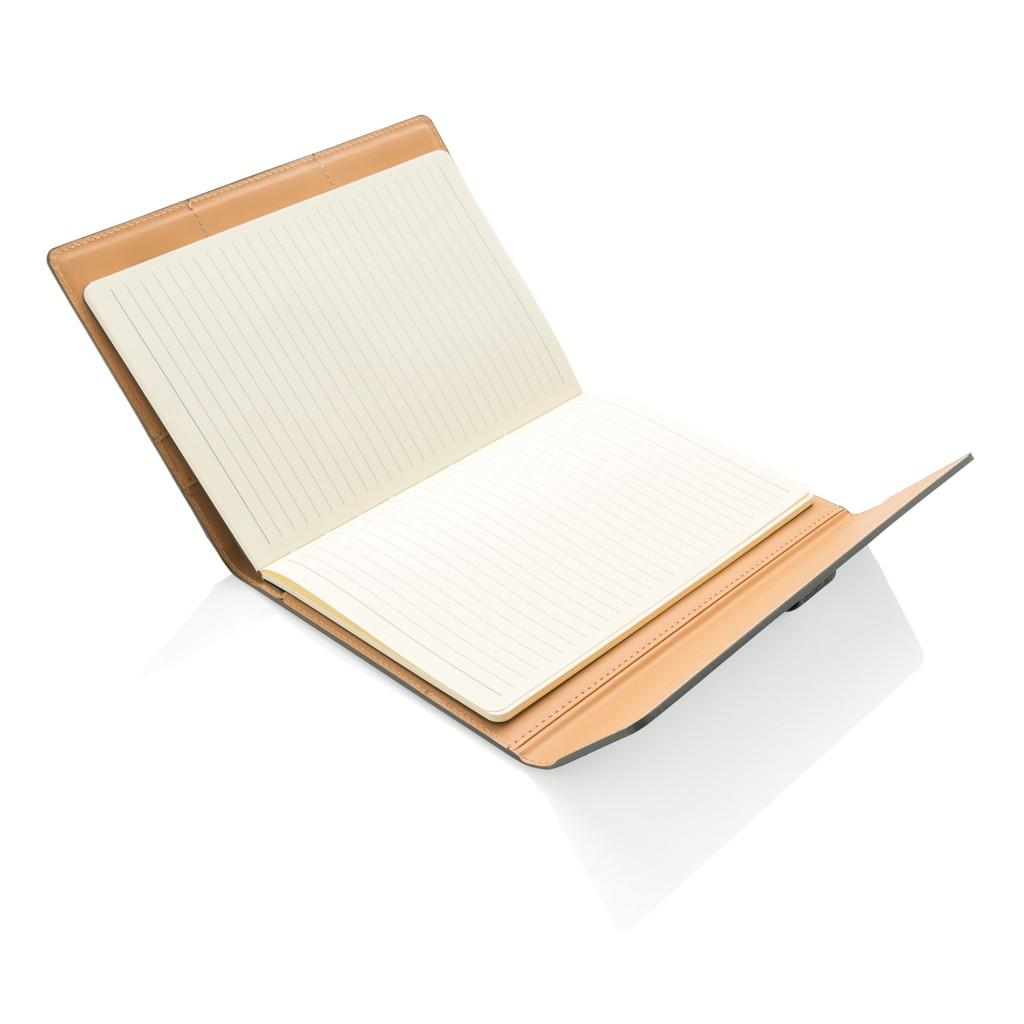A5 Deluxe design notitieboek omslag, grijs, View 2