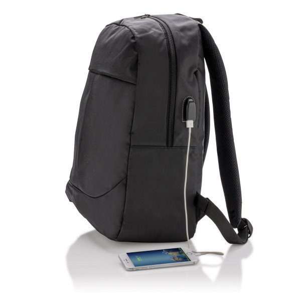 Power USB laptop rugzak, zwart, View 11