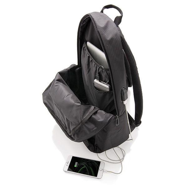 Power USB laptop rugzak, zwart, View 7