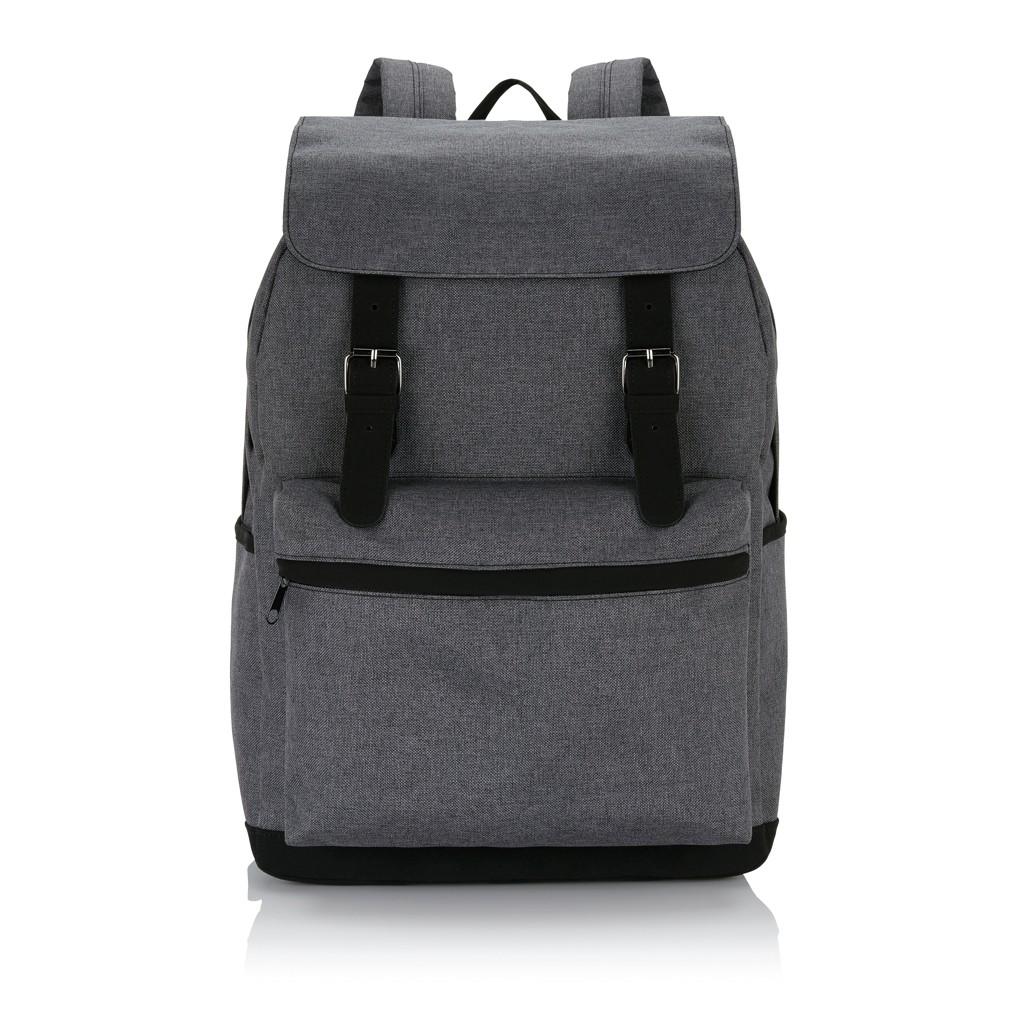 Laptop rugzak met magnetische gesp, grijs/zwart, View 6