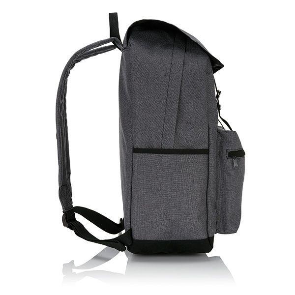 Laptop rugzak met magnetische gesp, grijs/zwart, View 3