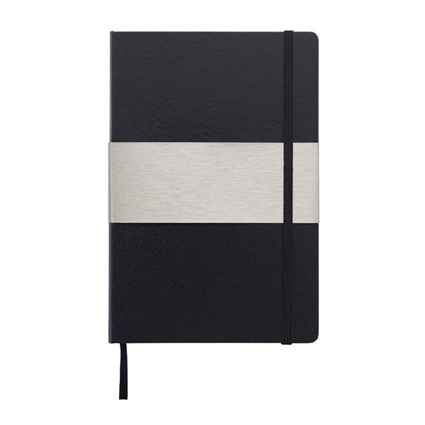A5 rechthoekig hardcover notitieboek, zwart, View 6
