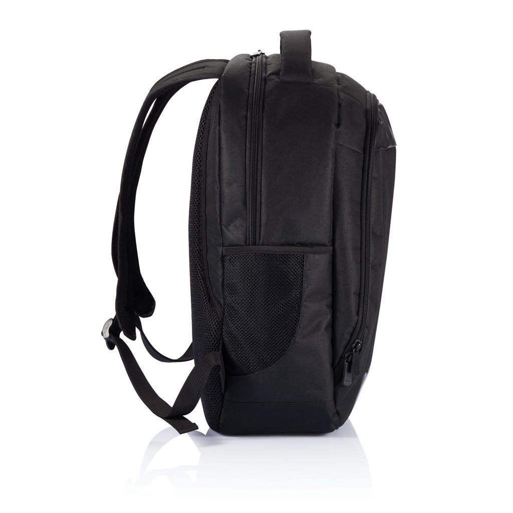 Boardroom PVC vrije laptop rugzak, zwart, View 7