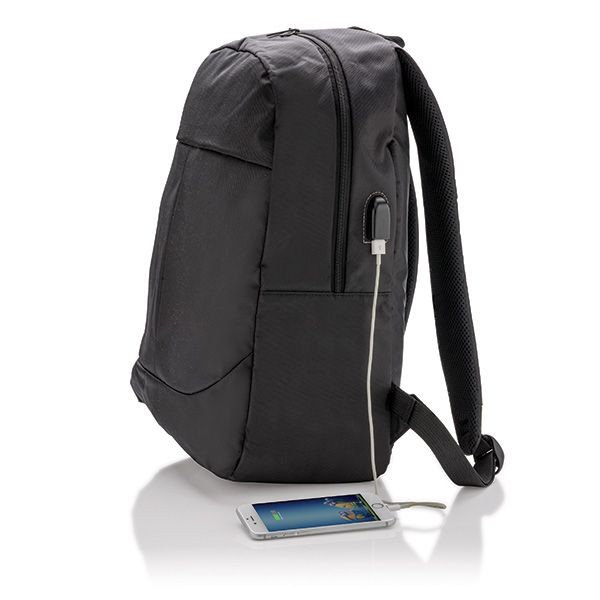 Power USB laptop rugzak, zwart, View 6
