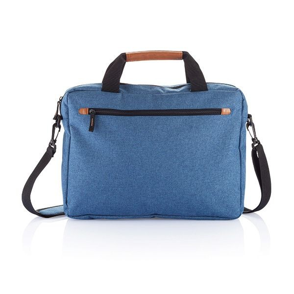 PVC vrije fashion duo tone laptop tas, blauw, View 2