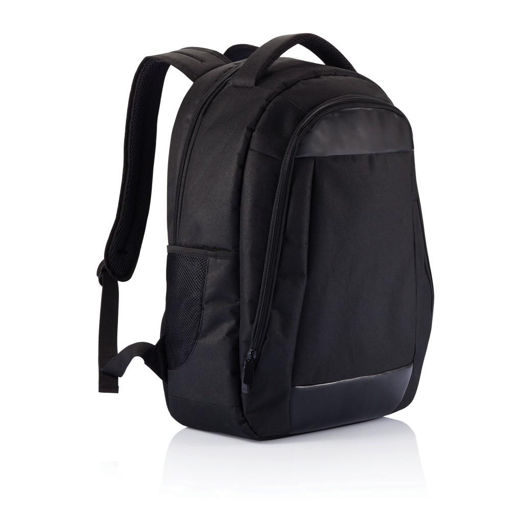 Boardroom PVC vrije laptop rugzak, zwart