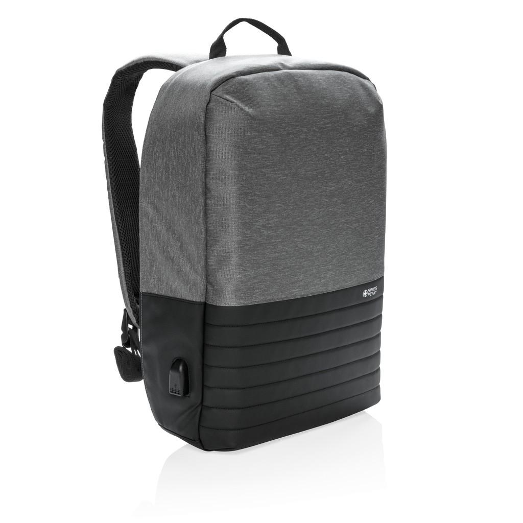 "Swiss Peak anti-diefstal RFID 15"" laptop rugzak, grijs"