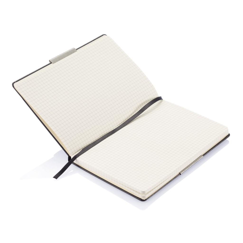 A5 rechthoekig hardcover notitieboek, zwart, View 8
