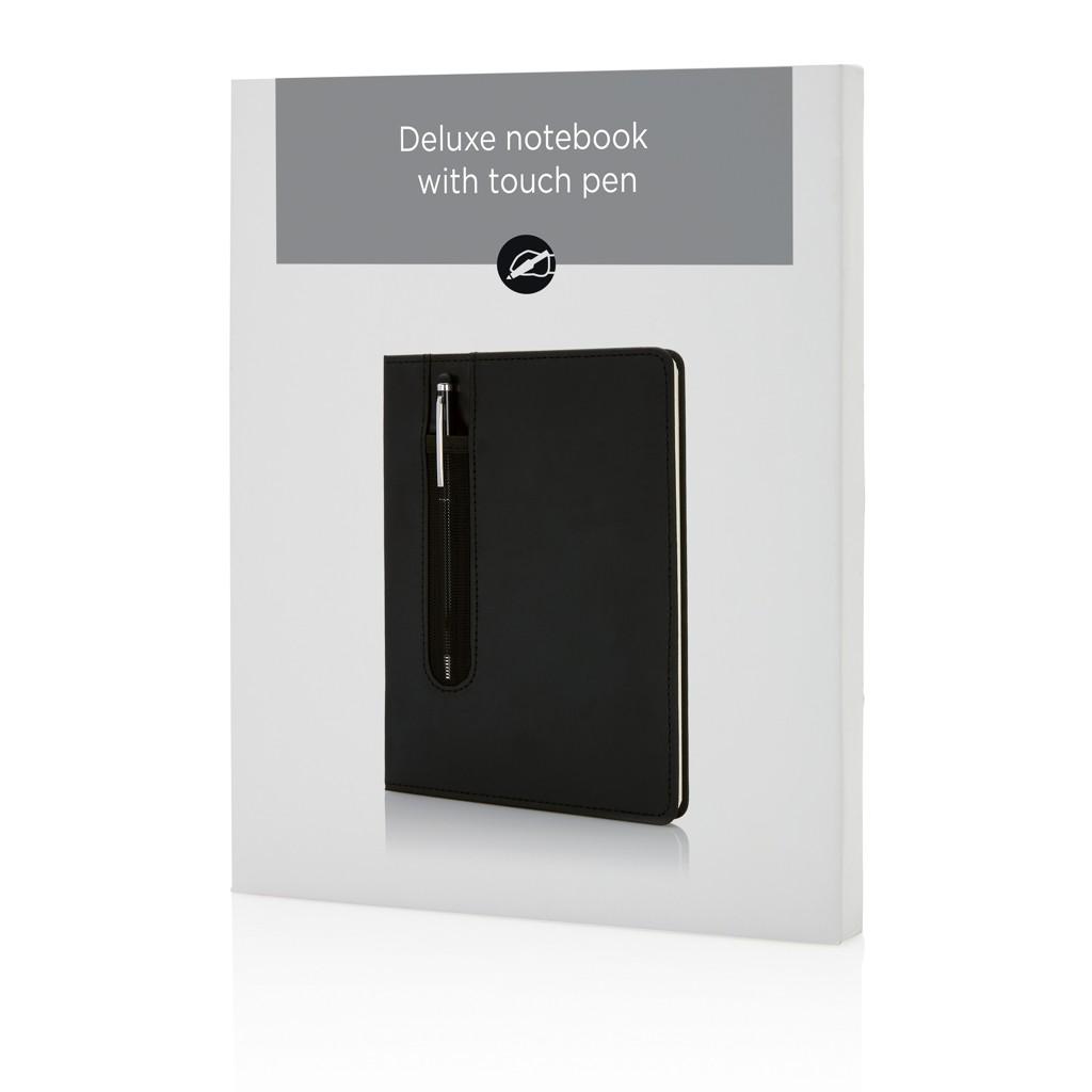 Deluxe A5 notitieboek met stylus pen, View 6