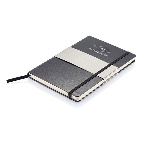 A5 rechthoekig hardcover notitieboek, zwart, View 3
