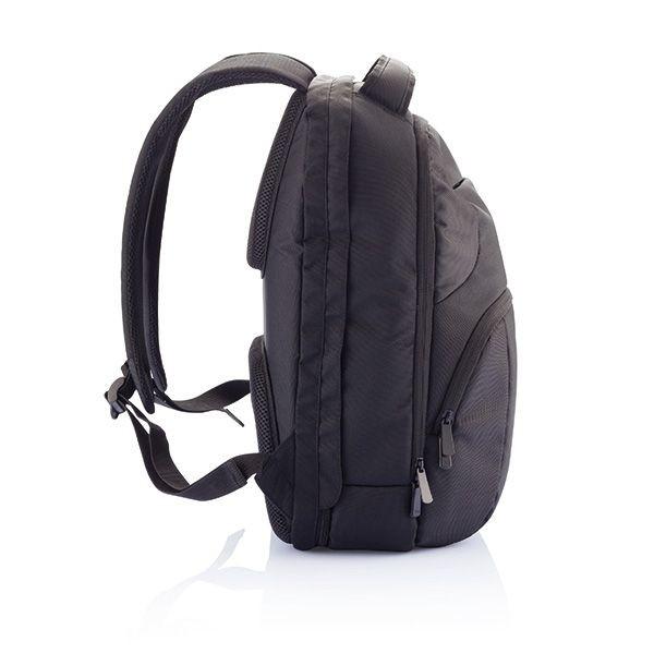 PVC vrije universele laptop rugtas, zwart, View 3