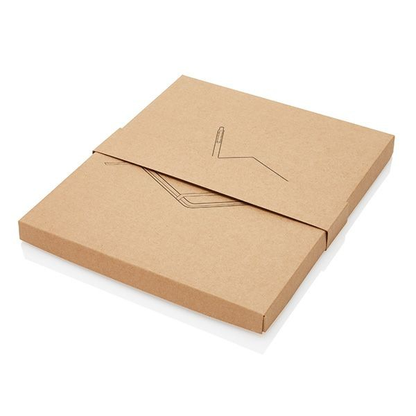 A5 kurken notitieboek incl. touchscreen pen, bruin, View 8