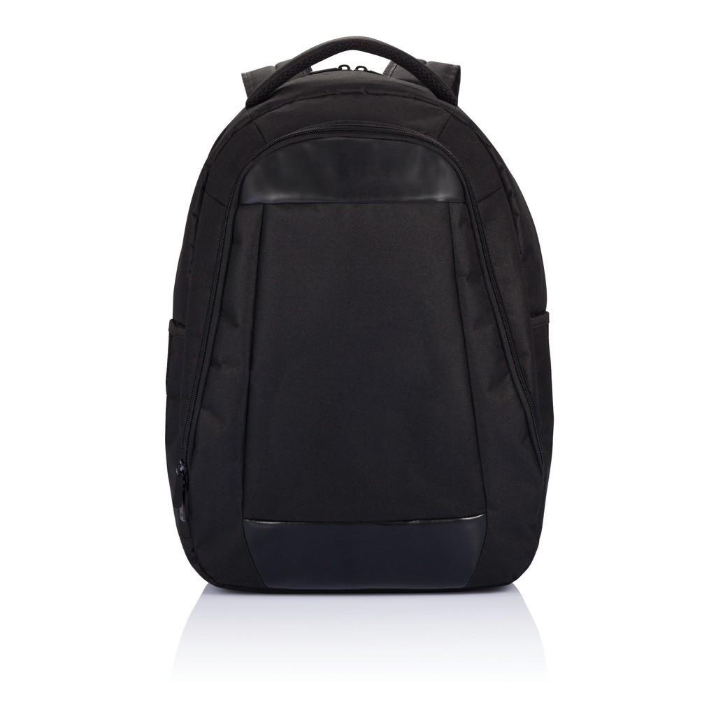 Boardroom PVC vrije laptop rugzak, zwart, View 6
