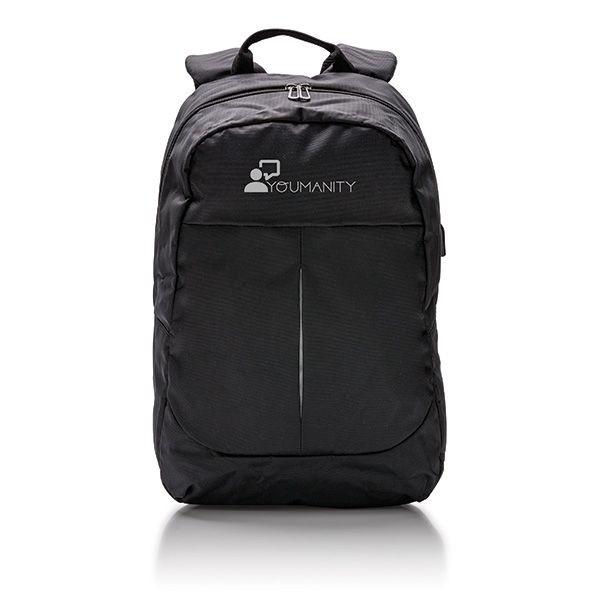 Power USB laptop rugzak, zwart, View 3