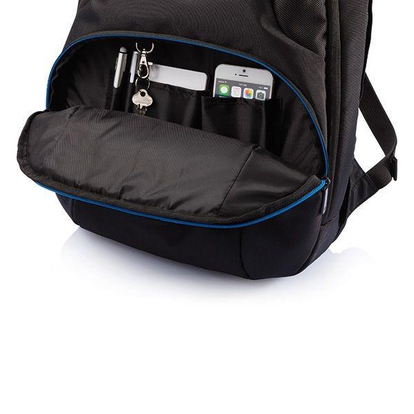 PVC vrije universele laptop rugtas, zwart, View 6