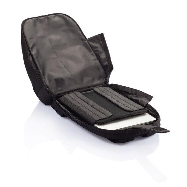 PVC vrije universele laptop rugtas, zwart, View 9
