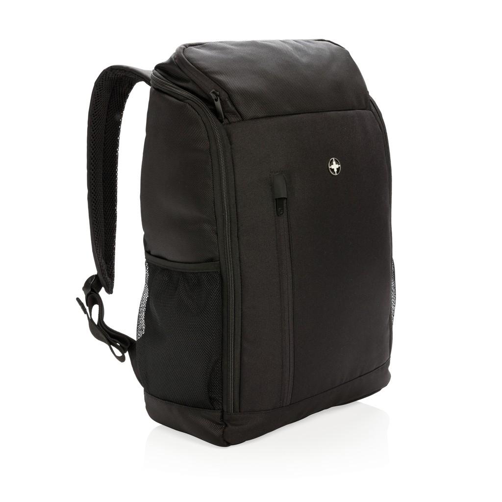 """Swiss Peak RFID easy open 15"""" laptop rugzak PVC vrij, zwart"""